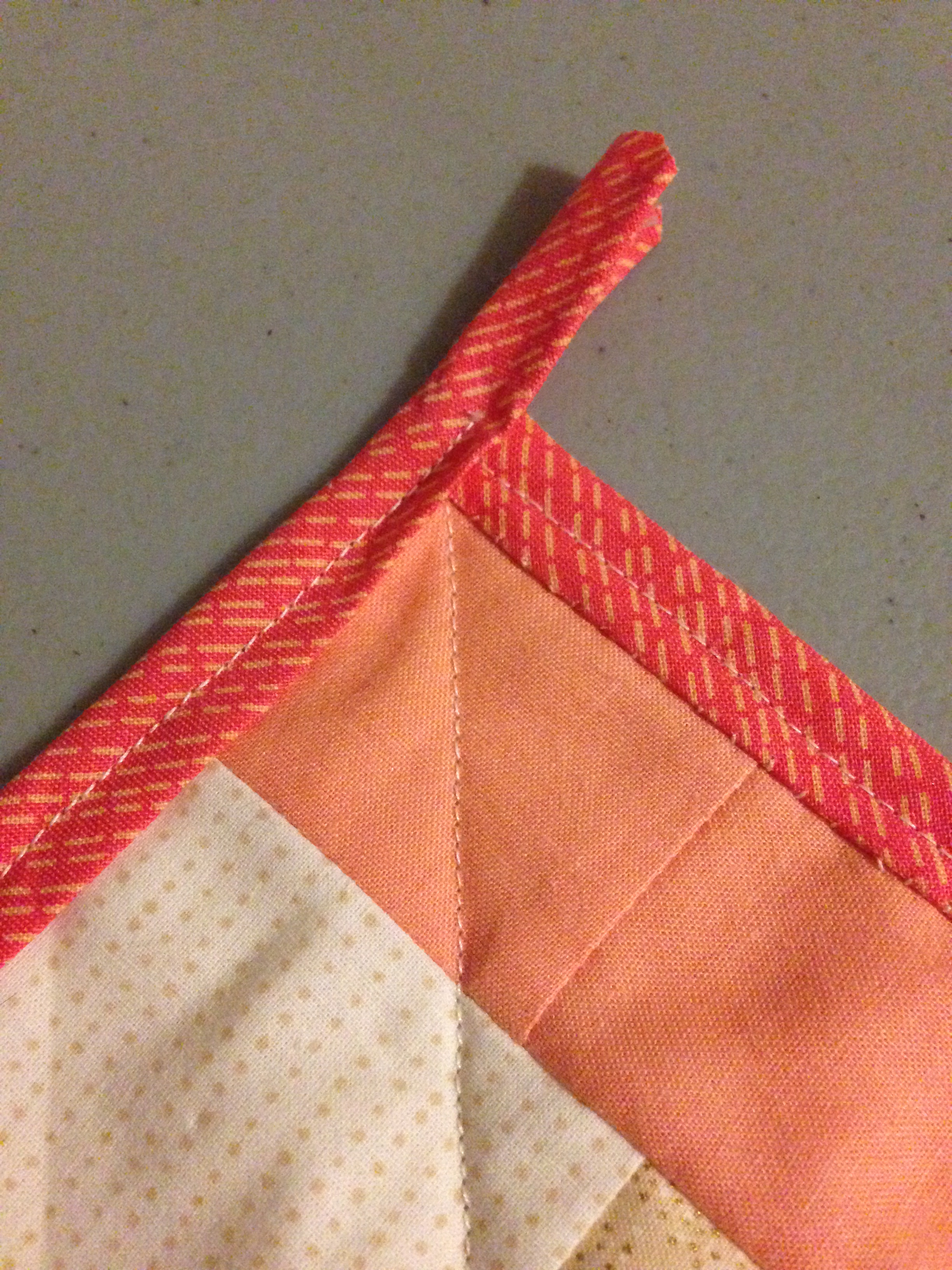 Back of quilt