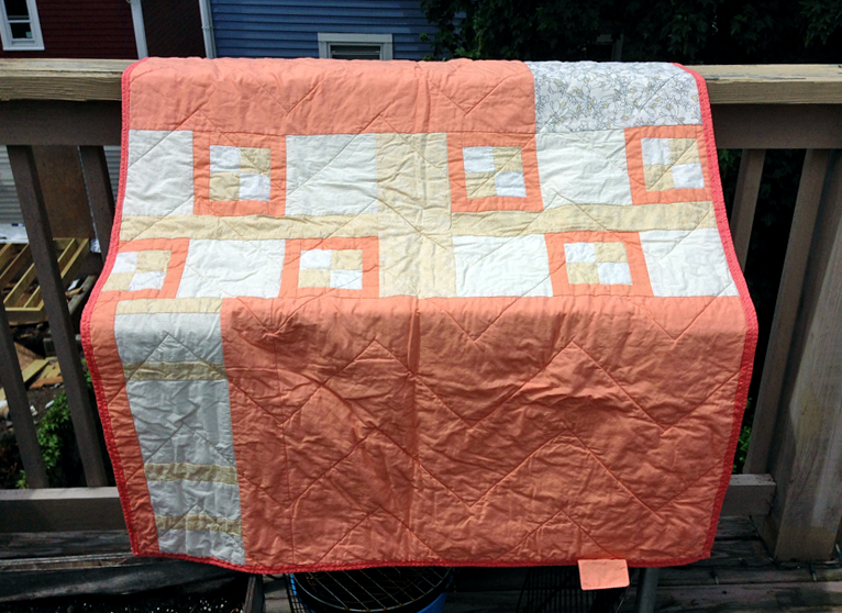 Peach and Gold Quilt (back)